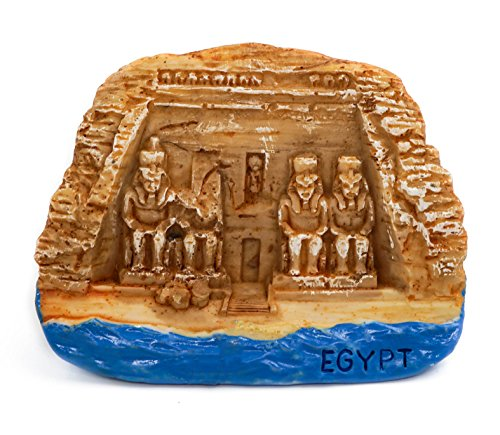 zamonji 3D Magnet Frigo Autocollant en Aimant de Réfrigérateur Bâtiment de Renommée Mondiale - Egypte (Abu Simbel Temples)