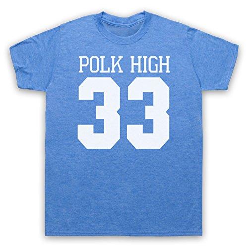 Inspiriert durch Married With Children Polk High Unofficial Herren T-Shirt Jahrgang Blau