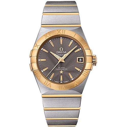 OMEGA MEN'S 38MM TWO TONE STEEL BRACELET AUTOMATIC ANALOG WATCH 12320382106001