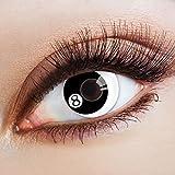 aricona N°360 - Farbige 12-Monats Kontaktlinsen Paar ohne Stärke, weich und angenehm zu tragen, Wassergehalt: 42%, Billardkugel