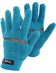 FLOSO® Kinder Hi Vis Thermo Handschuhe (3M 40g)