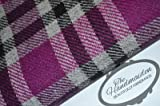 HARRIS TWEED, 100% reiner Schurwolle, Rosa Tartanmuster,
