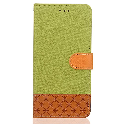 Mixed Colours Retro Premium PU Ledertasche 360 ​​° Schutz Wallet Stand Cover Case mit Lanyard & Card Slots für Huawei P8 Lite ( Color : Beige ) Green