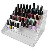Organizador Esmalte 6 Niveles Acrílico Transparente por Kurtzy - Puede contener hasta 48 Frascos de Esmalte - Organizador de Mesa - Hermoso Organizador para Artículos de Belleza