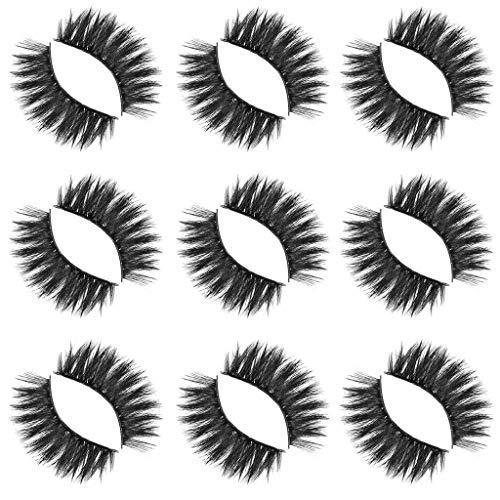 Künstliche Wimpern,Rifuli® Luxus 9Paire 5D falsche Wimpern flauschige Streifen Wimpern lange natürliche Party Make-up Eyelashes Falsche Magnetische Wimpern KlebstoffWiederverwendbare