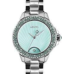 MEDOTA Gratia Women's Studded Automatic Water Resistant Analog Quartz Watch - Blue