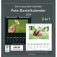 Foto-Bastelkalender 2018 - 2 in 1: schwarz und weiss - Bastelkalender: Do it yourself calendar (21 x 22) - datiert