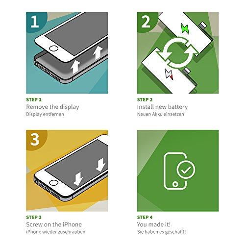 GIGA Fixxoo iPhone 6 Akku Ersatz zum Wechseln und Tauschen bei Defekter Batterie - 4