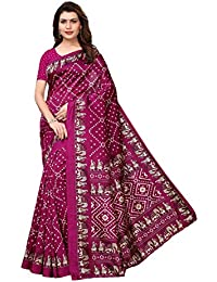 J B Fashion Women's Bhagalpuri Multi Color Saree With Blouse Piece …