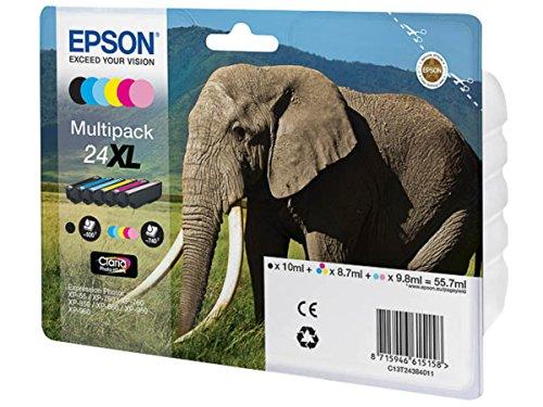 Preisvergleich Produktbild Epson original - Epson Expression Photo XP-860 (24XL / C13T24384011) - Tintenpatrone MultiPack schwarz,cyan,magenta, gelb,Foto-cyan,Foto-magenta - 740 Seiten