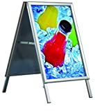 DISPLAY SALES Kundenstopper Outdoor Wasserfest, DIN A1, Plakatständer mit 32...