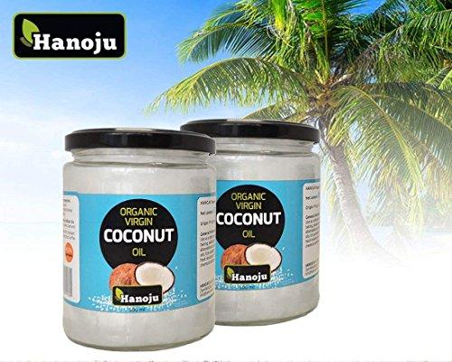 Hanoju Bio Kokosöl (Virgin coconut oil) 1000 ml Kaltgepresst aus kontrolliert biologischem Anbau der Philippinen