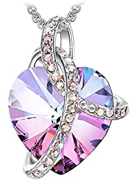 J. RENEÉ Love Heart Necklace for Women, with Crystals from Swarovski, Jewellery for Women, Gifts for Women