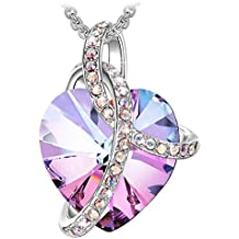 Sivery Blessed Love Pendant Fashion Necklace with Crystal from Swarovski, Jewellery for Women