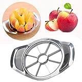 Doublehero Edelstahl 8-Blatt Apfel Birne Easy Cut Schneidemaschine Cutter Divider Peeler Apfel Schneider Apfel Slicer (Silber)