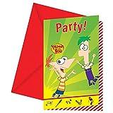 Disney Phineas und Ferb Party Einladungen, 6Stück