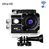 Ultra HD Action Kamera,CAMTOA Wasserdicht Sport-Actionkamera WIFI 20MP 2,0 Zoll Helmkamera,170° Weitwinkellinse HD 1080P WiFi HDMI camcorder mit 2 Batterien und Zubehör Kits,für Tauchen Helm Fahrrad