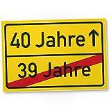 DankeDir! 40 Jahre (39 Jahre Vorbei) - Kunststoff Schild, Geschenk 40. Geburtstag, Geschenkidee Geburtstagsgeschenk Vierzigsten, Geburtstagsdeko/Partydeko / Party Zubehör/Geburtstagskarte