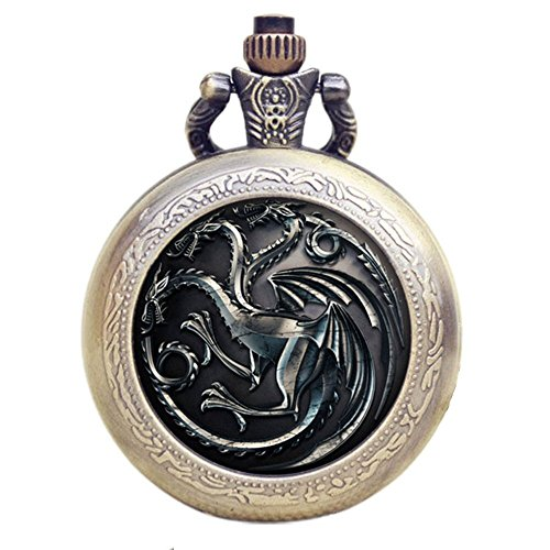 Game of Thrones Quarz-Taschenuhr mit Logo
