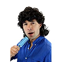 WIG ME UP - Party/Fancy Dress/Halloween Wig curly black mullet 70ies