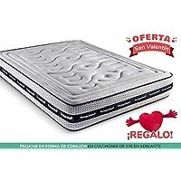 KAMA HAUS | Colchón Relax Tecno Grafeno | 150x190cm | Visco Plus Grafeno | con BioCotton