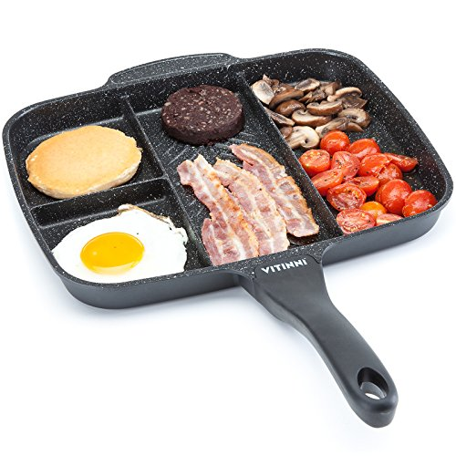 """10. All in One Non-Stick 4 In 1 Multi Section Grill Frying Pan. """"Because he's a fat git."""""""