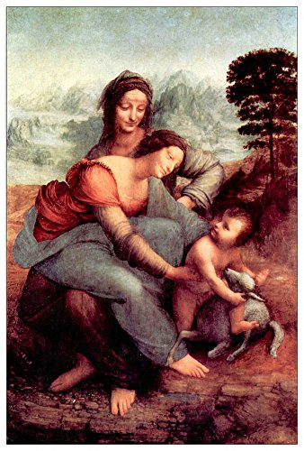 ArtPlaza Da Vinci Leonardo – Anna Selbdritt, Dekorative Paneele, Holz, Mehrfarbig, 60 x 1.8 x 90 cm