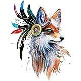 Nysunshine 1 Stück Fuchs Gestickte Patches Aufnäher für Jeans, Kleidung, Hut, Schuhe