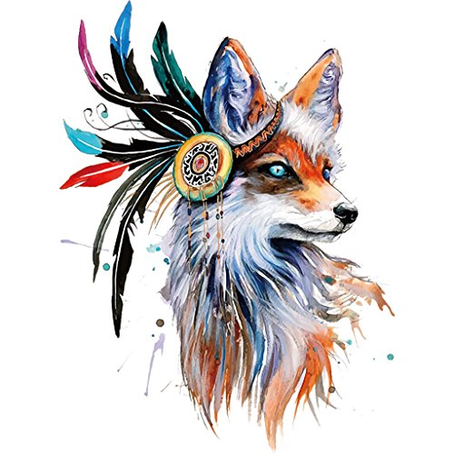Jiamins 1 Stück Patch Sticker - Fuchs, DIY Druck Stickerei Applikation Für Decoreting Und Patching Jacket,T-Shirt,Hut,Kleid (19.24x26cm)