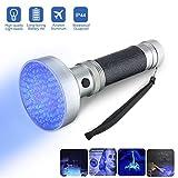 Luce Ultravioletta, FOCUSPET UV Torcia Elettrica 100 LED UV 400nm Multifunctional Lamp per Turina Pet Macchie Detector, Scorpion Caccia Luce,Luce UV -Nero