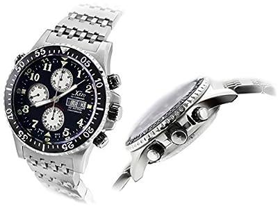 Xezo Air Commando Divers, Pilotos Valjoux 7750, antirreflectante-Reloj cronógrafo automático suizo Sapphire. 45mm de diámetro