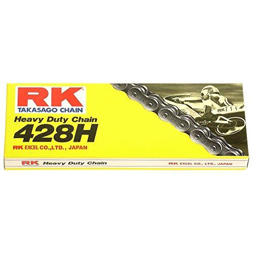 Motorrad Kette RK 428H mit 128 Rollen und Clipschloss, offen
