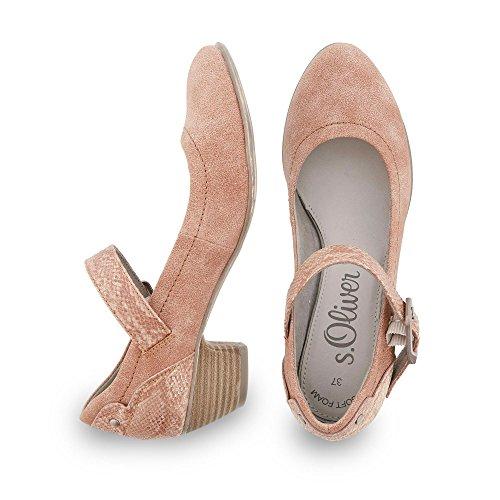 s.Oliver 24405, Chaussures à talons - Avant du pieds couvert femme 514°old rose comb.