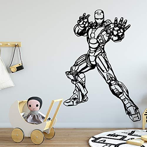 jiushizq Cartoon Wall Stickers Modern Fashion Wall Sticker Home Decoration Living Room Background Wall Art Decal Pink 58cm X 84cm