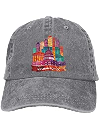 ARTOPB Washington DC Denim Baseball Caps Hat Adjustable Cotton Sport Strap  Cap for Men Women c5fa8d806a4