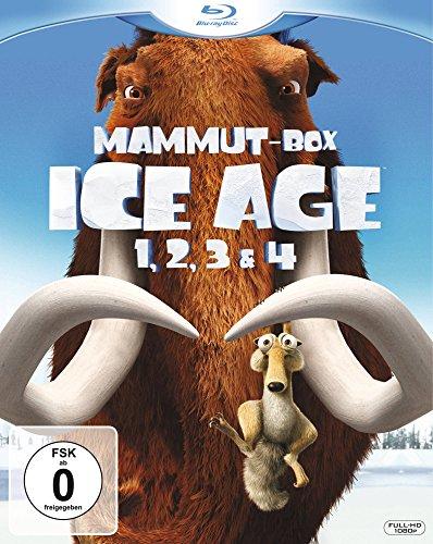 Ice Age 1, 2, 3 & 4 (Mammut-Box) [Blu-ray]