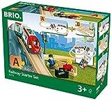 BRIO World 33773 Eisenbahn Starter Set A - Die perfekte erste Holzeisenbahn mit Tunnel und Figuren -...