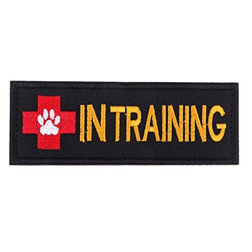 IPOTCH Hund Patch Service Dog In Training Service Dog Bestickt Moral Patch mit Klettverschluss für Hunde und Haustiere - Schwarz