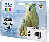 Epson Original T2616 Tintenpatrone Eisbär, Multipack 4-farbig Test