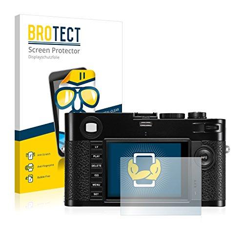 BROTECT Schutzfolie kompatibel mit Leica M (Typ 240) [2er Pack] - kristall-klare Displayschutz-Folie, Anti-Fingerprint
