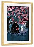 "artboxONE framed poster pine wood 45x30 cm ""Another Quiet Spot"" by littleclyde - framed print"