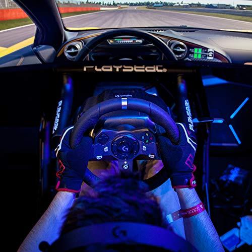 Bild 7: Logitech G920 Driving Force Gaming Rennlenkrad, Zweimotorig Force Feedback, 900° Lenkbereich, Leder-Lenkrad, Verstellbare Edelstahl Bodenpedale, Xbox One/PC/Mac, schwarz