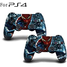 Elton PS4 Controller Designer 3M Skin For Sony PlayStation 4 , PS4 Slim , PS4 Pro DualShock Remote Wireless Controller (set Of Two Controllers Skin) - The Amazing Spider-man