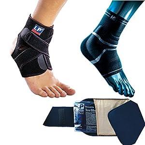 Ziatec 3-in-1 Erste-Hilfe-Set bei Knöchel-Verletzungen, Rehabilitations-Set nach Sport-& Alltagsverletzungen, Bandagenset