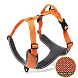 Dog Harness Large Dogs Reflective No Pull Dog Harness Vest with Handle Adjustable