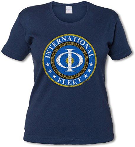 Vintage International Fleet Logo Woman Girlie T-Shirt - Ender´s Orson Scott Card Game T-Shirt Sizes XS - 2XL