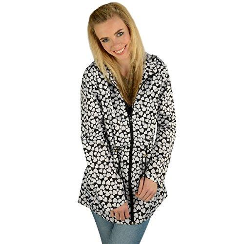 Paramount Damen Mantel Weiß Weiß / Schwarz Gr. 42, Weiß - Weiß / Schwarz