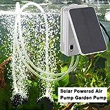 FairytaleMM BSV-AP002 Tragbare Größe Entfernbare Batterie Solarbetriebene Luftpumpe Outdoor Angeln Brunnen Garten Solar Wasserpumpe, weiß