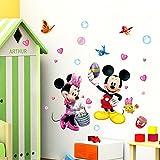 Smart Art Disney Tapete Aufkleber Mickey Mouse Wand Aufkleber Kinderzimmer Wandbild Wohnkultur