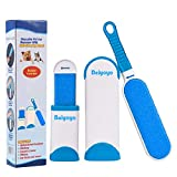 BeiYoYo Pet Hair Remover Lint Brush With Self-Cleaning Base, Improved Handle, Double-sided Fur